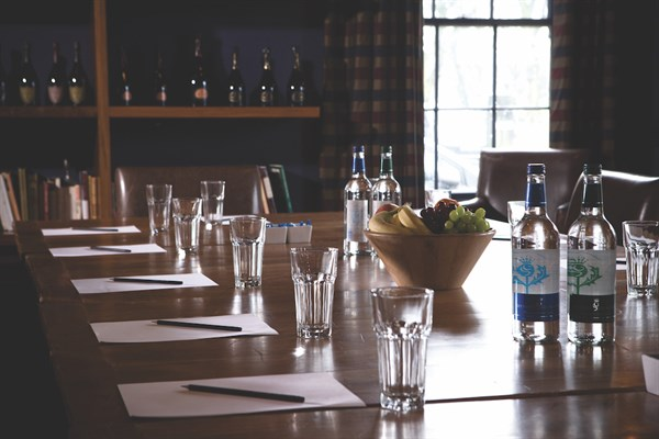 A Boardroom Table Laid Out For A Business Meeting At Hotel Du Vin _72dpi