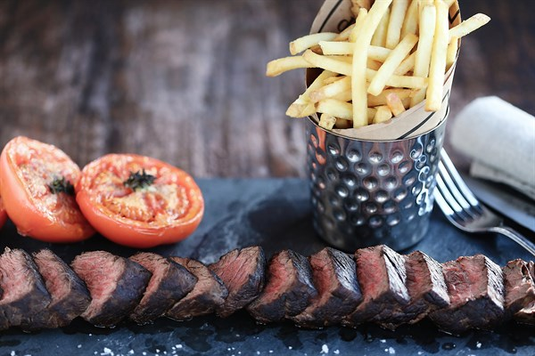 Chateaubriand Steak With Fries And Tomato ÔÇô A Classic French Meal
